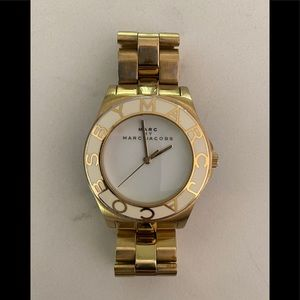 Marc Jacobs 'blade' watch gold